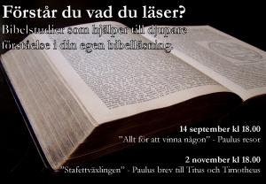 Bibelstudier hösten 2013